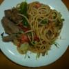 私と食事:男の料理ーーたらこ と スパゲティと牛肉 と 5月7日の出来事
