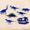 今日はブルー系恐竜バッチ