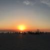 Al Hudayriat島で、夕焼けを。