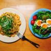 5/2(土)餃子とチャーハン、エビと青じそスパゲティ