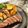 塩だけを使って☆厚さ3cmのステーキを焼いていく