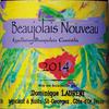 『おすすめヌーヴォーその3★ブルゴーニュの天才醸造家が有機栽培の葡萄で醸すオーガニック・ヌーヴォー★2017 Beaujolais Nouveau Biologic, Dominique Laurent』