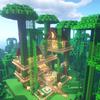 【マインクラフト#13】ジャングルの木を利用したツリーハウスを建築してみた