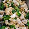 鶏肉とプチヴェールのオリーブ煮