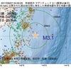 2017年09月07日 04時00分 宮城県沖でM3.1の地震