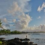 「リチャードソン・オーシャン・パーク」 ~ヒロ湾のサンセットと海亀を見ながらシュノーケリング。。。