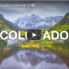 雄大なパノラマ映像 秋のコロラド州とロッキー山脈