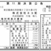 株式会社エコ配 第11期決算公告