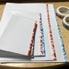 カレンダーの裏紙でミニノートを作った