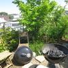 KUV屋上庭園で、今年初めてのバーベキュー