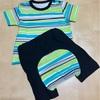 27w2d 手作り半袖Tシャツ&モンキーパンツ