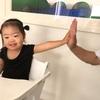 朝の楽しみ(2歳11ヶ月)