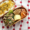 #586 豚細切れ肉とほうれん草の塩麹炒め弁当