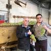 2018/4/11 bis収穫中のポールジローさんと一緒に 初日