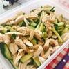 蒸し鶏きゅうりのさっぱり冷菜