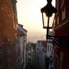 朝焼けのプラハ