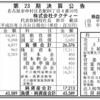 株式会社タクティー 第23期決算公告
