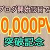 【ヤバイ】ブログ開始15日で10,000pv突破しました