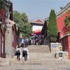 虹門から中天門までのハイキング-泰山(中国山東)世界遺産へ一泊二日旅行(3)