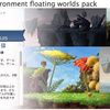 Megasize environment floating worlds pack 2D横スクロールゲーム向け素材 6種類のアセットパック