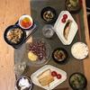 ごはん、焼き魚(シルバー、さば)、ひじき、小松菜とエリンギの味噌汁、ホタルイカ