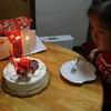 クリスマスケーキ食べました(^^)3歳娘の好きな外遊び、チョークでお絵描き♪