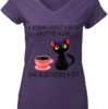 Cute A woman cannot survive on coffee alone she also needs a cat shirt