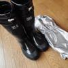 今日は長靴と雪よけカバーを買ってきました。