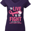 Perfect To Live Is To Fight I'm A Breast Cancer Survivor shirt