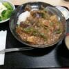 西川口の「あおき食堂」でなすとピーマンと厚揚げの味噌あんかけ丼を食べました★