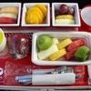◆フライト&機内食レポート◆番外編◆今まで機内食でいただいたフルーツミール5つ◆QR・JL・MF・MH・PG◆