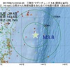 2017年08月14日 03時54分 三陸沖でM3.8の地震
