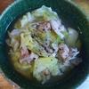 豚肉とキャベツとえのきの中華風スープ