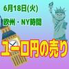 【6/18欧州&NY時間】クロス円の売り戦略が有効!!