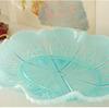 ブルーカラーのウランガラスのビンテージのお皿