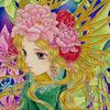 「深碧の女神」SMサイズファンタジーイラスト完成報告:ドラえもん「雲の王国」滑り込み視聴