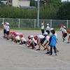 3年生:体育 スポーツ大会の練習 玉入れ