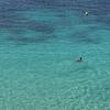 イビザの青い海