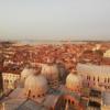 イタリア観光 ヴェネツィアに来たなら必ずサン・マルコの鐘楼からの夕焼けを見るべき。