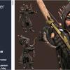 Animated Hunter 『アセット大半が50%OFF!!パブリッシャーセールも同時開催中!(ファンタジー系の3Dモデル、218アセット)』 弓装備ハンターの3Dモデル