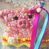 ピンクのブタさんのブローチ完成です!