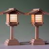 通り道を照らす それが灯篭 木製灯篭の魅力