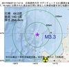 2017年09月27日 01時14分 北海道西方沖でM3.3の地震