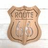 """◆糸ノコ木工◆""""ROUTE66""""サインボードと多肉 ~handmade~"""