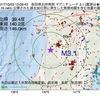 2017年10月03日 13時09分 秋田県沿岸南部でM3.1の地震