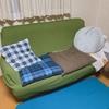 【ニトリ】布ソファと折り畳みベッドが届いた。
