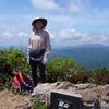 日本 背景は冠山頂上からの眺め