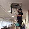 岡山市内 某学校 空調機 フロン排出抑制法に伴う定期点検
