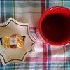 今日のおやつはマロンドールとブラックコーヒー