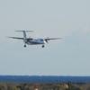 ANA ボンバルディアDHC8-Q400 高知空港 着陸風景